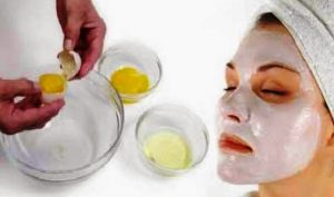 tips skin care with white egg